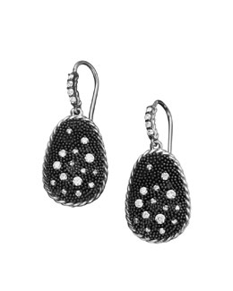 David Yurman Midnight Melange Earrings, Pave Diamond