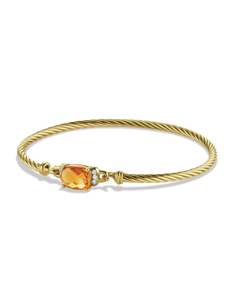 David Yurman Petite Wheaton Bracelet with Citrine and