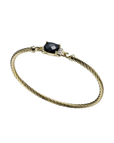 David Yurman Petite Wheaton Bracelet, Black Onyx