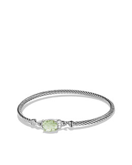 David Yurman Petite Wheaton Bracelet with Prasiolite and Diamonds