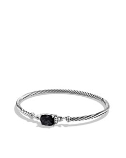 David Yurman Petite Wheaton Bracelet with Black Onyx and Diamonds