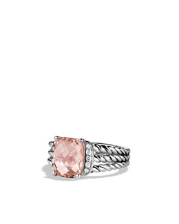 David Yurman Wheaton Ring with Morganite and Diamonds