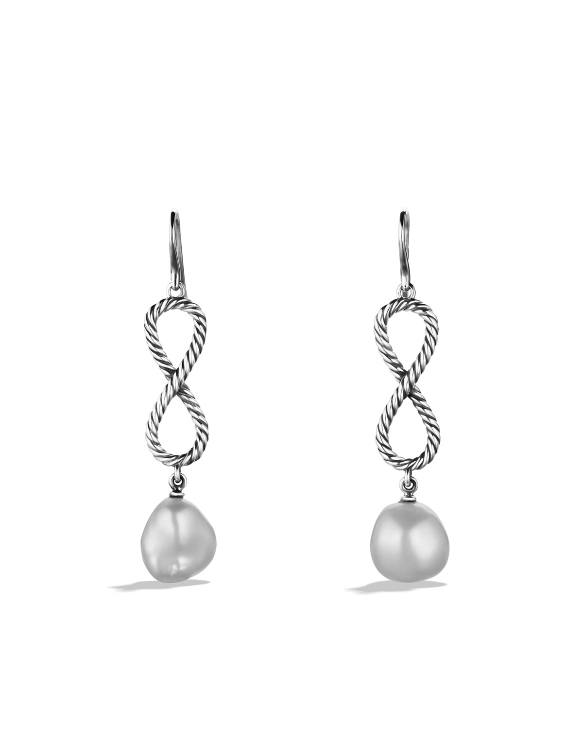 Confetti Figure-Eight Drop Earrings with Pearls