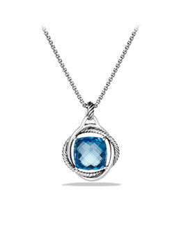 David Yurman Infinity Pendant with Hampton Blue Topaz