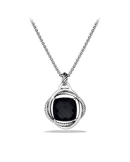 Infinity Pendant with Black Onyx