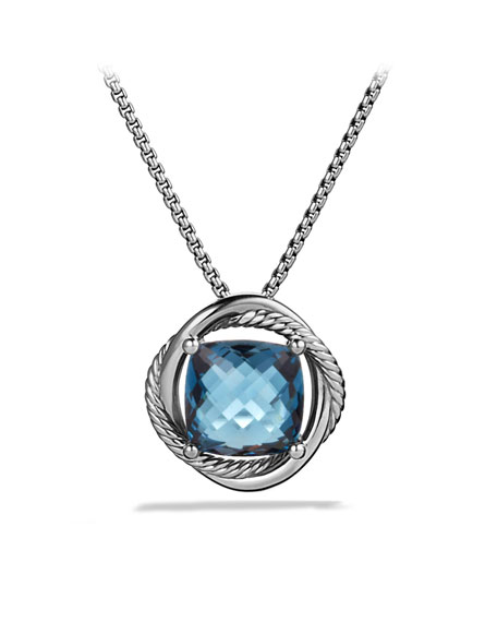 Infinity Medium Pendant with Hampton Blue Topaz on Chain