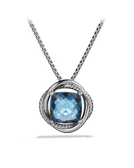 David yurman infinity medium pendant with hampton blue topaz on infinity medium pendant with hampton blue topaz on chain aloadofball Gallery