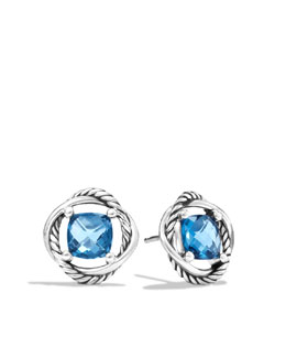 David Yurman Infinity Earrings with Hampton Blue Topaz