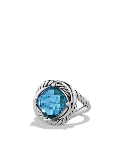 David Yurman Infinity Ring with Hampton Blue Topaz
