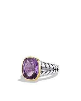 David Yurman Noblesse Ring with Amethyst and Gold