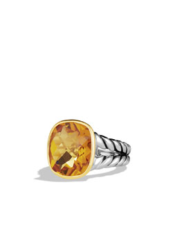 David Yurman Noblesse Ring with Citrine and Gold