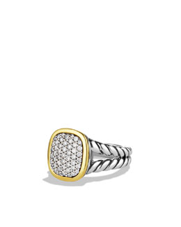 David Yurman Noblesse Ring with Diamonds and Gold