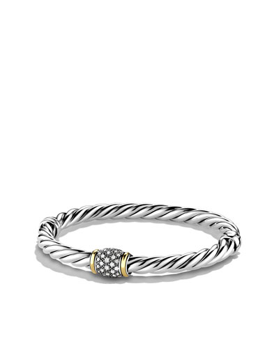 David Yurman Metro Bracelet with Diamonds and Gold