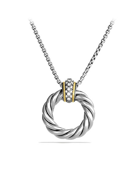 David Yurman Cable Classics Small Pendant with Diamonds