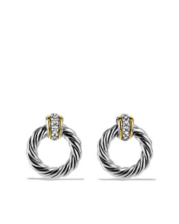 David Yurman Metro Earrings with Diamonds and Gold