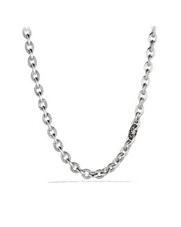 David Yurman Oval Link Necklace with Diamonds