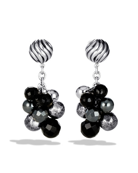 DY Elements Drop Earrings with Black Onyx and Hematine