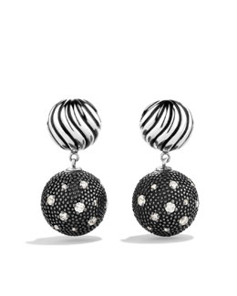 David Yurman DY Elements Double-Drop Earrings with Diamonds