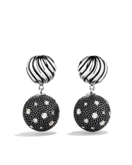 DY Elements Double-Drop Earrings with Diamonds