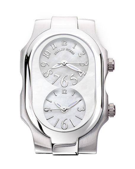 Small Signature Stainless Steel Watch Head