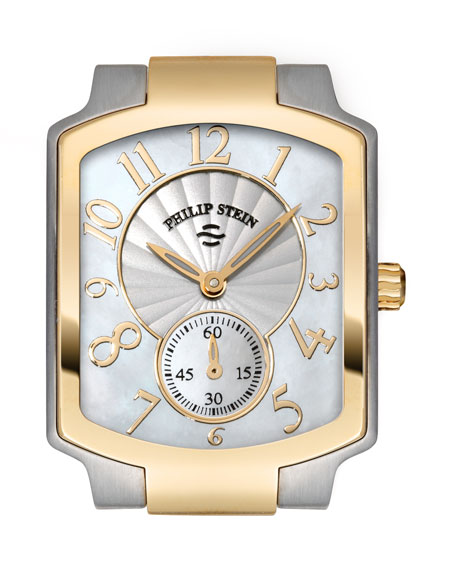 Small Classic Two-Tone Gold Watch Head