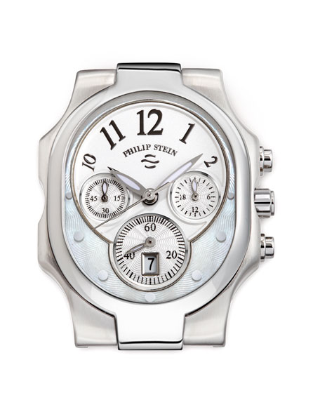 Large Classic Stainless Steel Watch Head