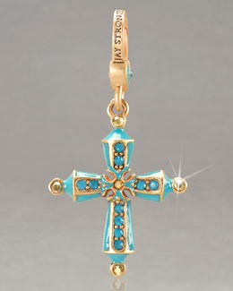 Jay Strongwater Birthstone Cross Charm