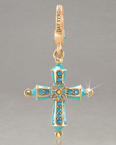 Birthstone Cross Charm