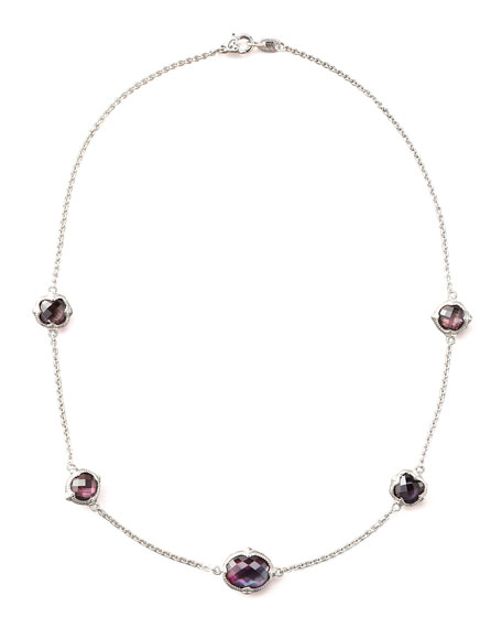 Corundum Doublet-Station Necklace