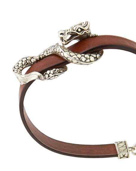 Naga Leather Bracelet, Brown