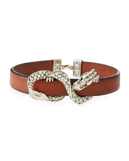 John Hardy Naga Leather Bracelet, Brown