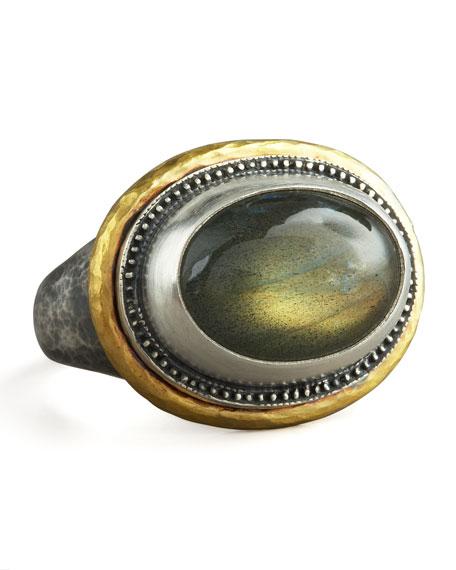 Labradorite Gauntlet Ring