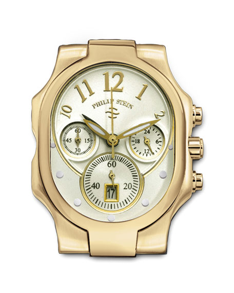 Large Classic Gold-Plated Watch Head