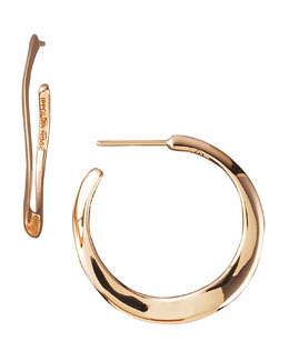 Ippolita Wavy Rose Hoop Earrings