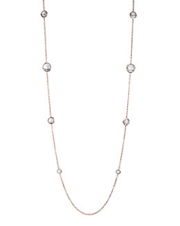 "Ippolita Rose & Quartz Station Necklace, 37""L"