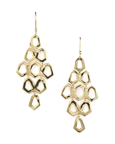 18K GOLD CASCADE EARRINGS