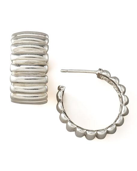 Bedeg Silver Hoop Earrings, Small