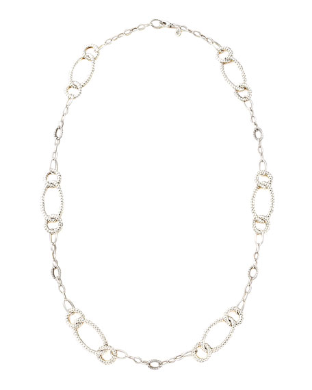 Bedeg Oval-Link Sautoir Necklace