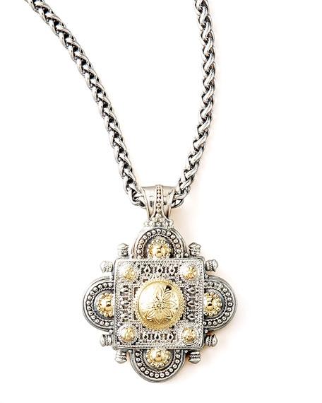 Silver & Gold Clover Pendant