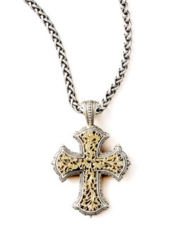 Konstantino Gold Filigree Cross Pendant