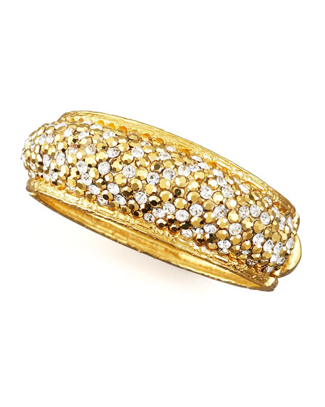 Pave-Crystal Bracelet, Golden