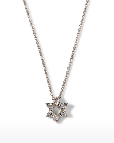 Roberto Coin Diamond Star of David Necklace