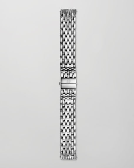 18mm Deco Diamond Taper 7-Link Bracelet Strap, Steel