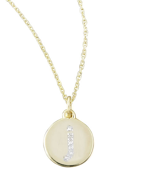 Diamond-Initial Necklace, J