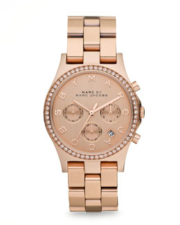 MARC by Marc Jacobs Henry Watch, Rose Golden