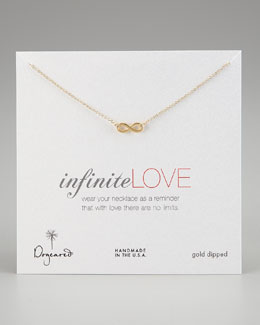 Dogeared Infinite Love Pendant Infinity Necklace