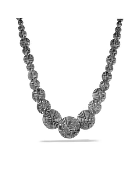 Cable Coil Necklace with Diamonds