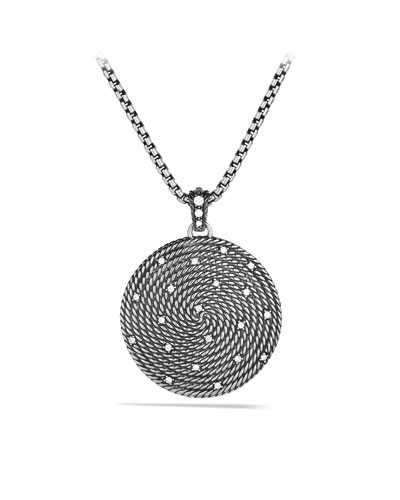 David Yurman Cable Coil Large Pendant with Diamonds
