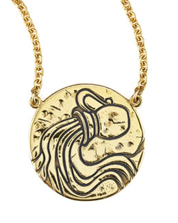 Amy Zerner Astrology Necklace, Aquarius