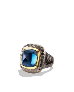 David Yurman Albion Ring with London Blue Topaz and Gold